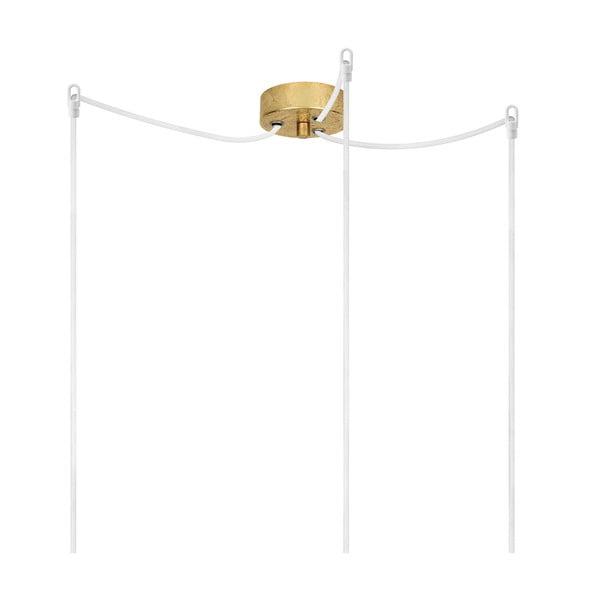 Trojitý závěsný kabel Bulb Attack Uno, zlatá/bílá/zlatá
