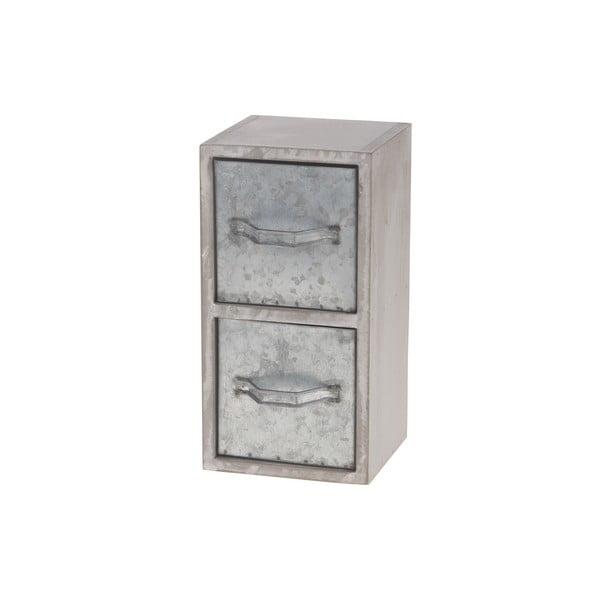 Dřevěná skříňka s kovovými šuplíky Dijk Natural Collections Oliver