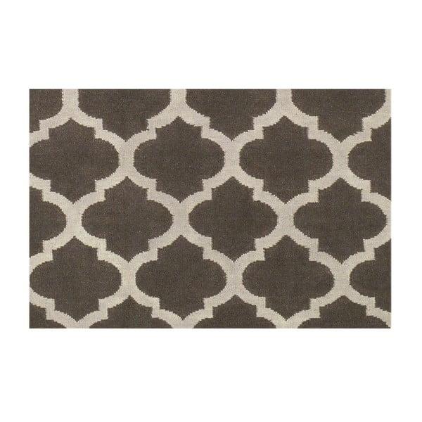 Ručně tkaný koberec Andrea Grey/White, 140x200 cm
