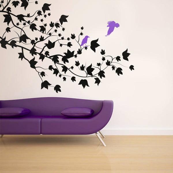 Samolepka na stěnu Ptáci a větve, 90x120 cm