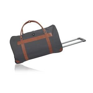 Šedá cestovní taška na kolečkách GENTLEMAN FARMER Norway, 63 l