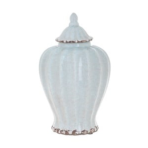Bílá keramická váza InArt Antique, výška 24 cm