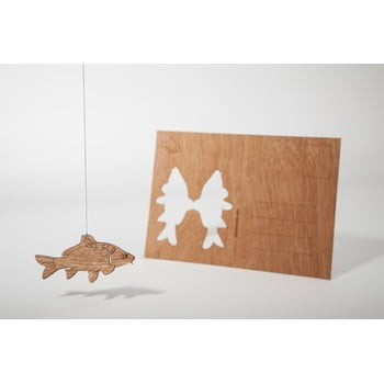 Carte poștală din lemn Formes Berlin Kapr, 14,8 x 10,5 cm
