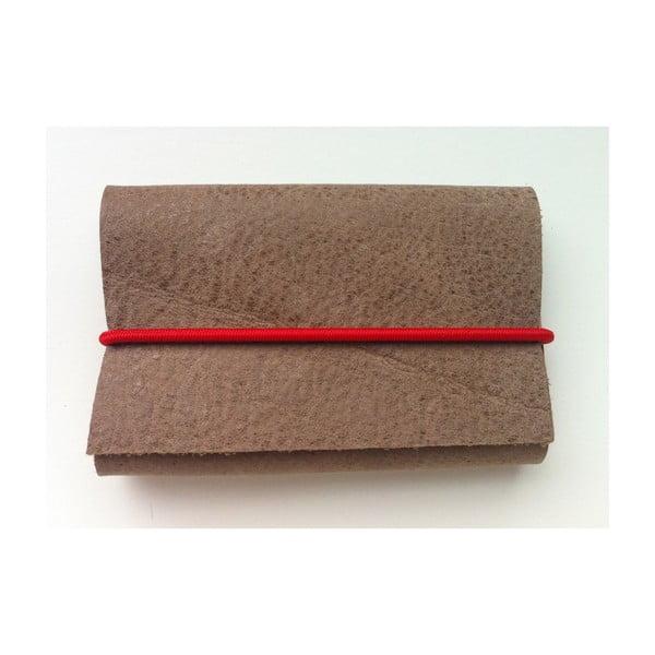 Peněženka Mascavos s modrou a červenou gumičkou