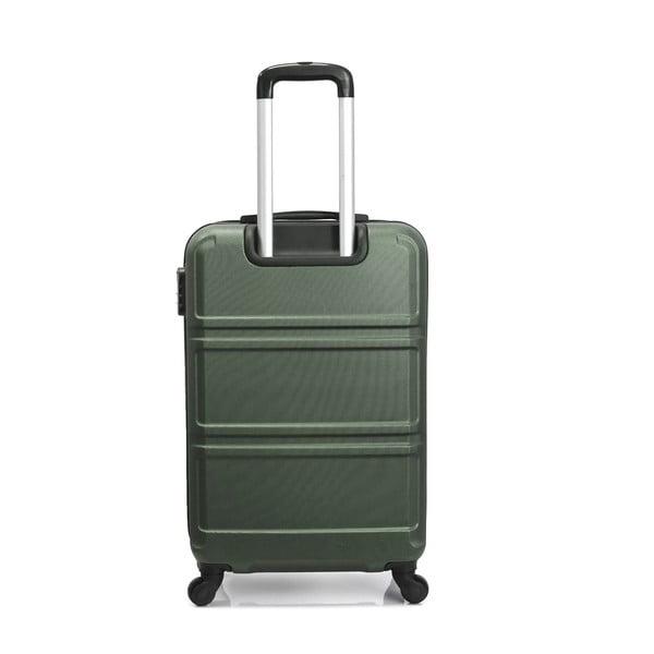 Zelený cestovní kufr na kolečkách Hero Utah, 97 l