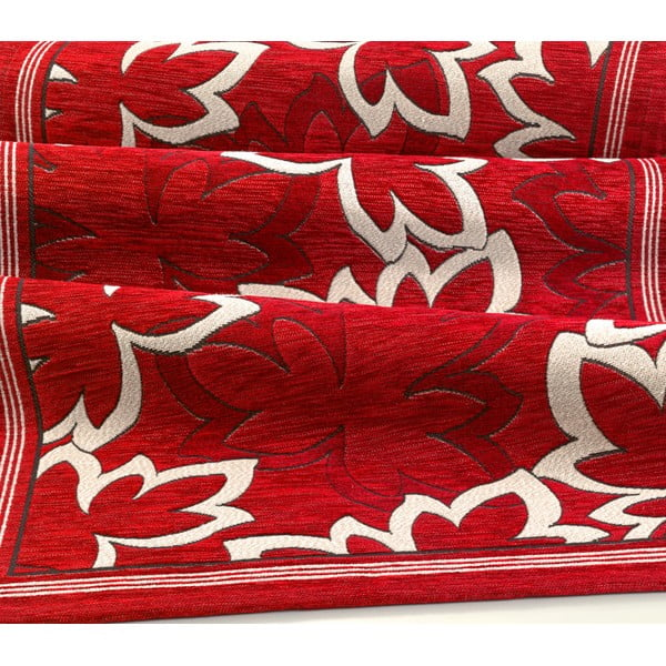Červený vysoce odolný kuchyňský běhoun Webtappeti Maple Rosso,55x280cm