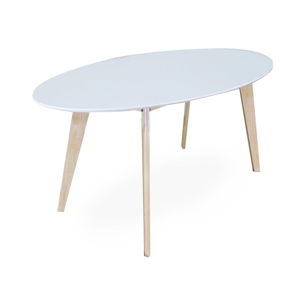 Bílý oválný jídelní stůl Signal Montana, délka160cm