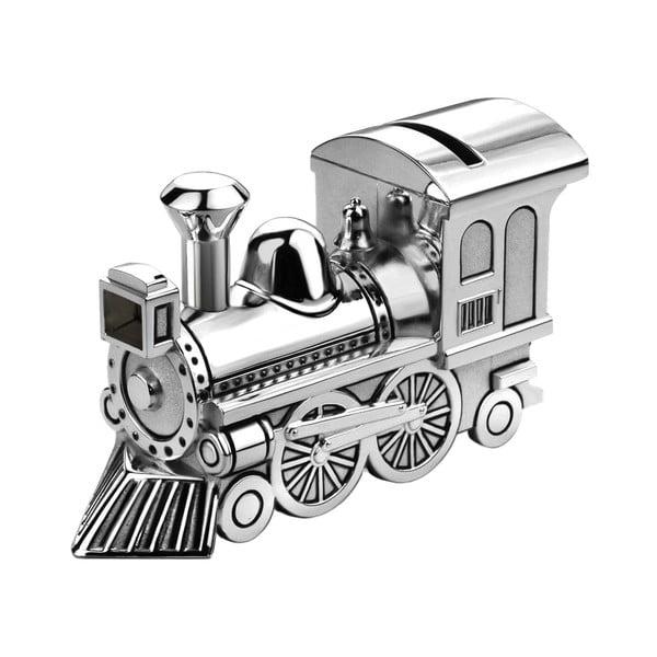 Kasička Lokomotiva, postříbřená