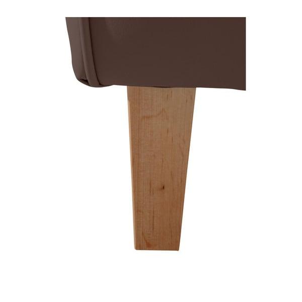 Tmavě hnědé křeslo ušák Max Winzer Lorris Leather Brown
