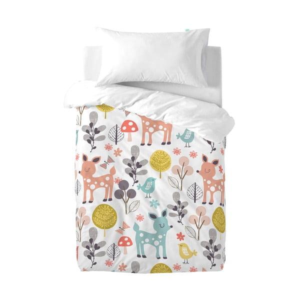 Lenjerie de pat pentru copii Moshi Moshi Woodland, 100 x 120 cm