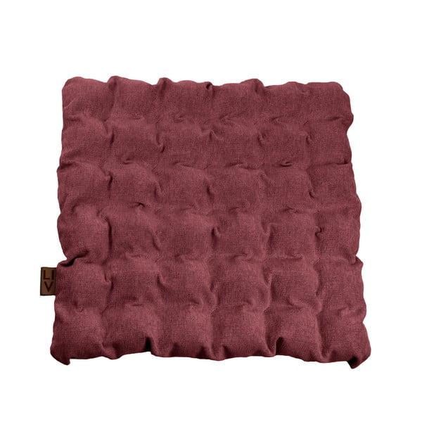 Czerwono-fioletowa poduszka do siedzenia z piłkami do masażu Linda Vrňáková Bubbles, 55x55 cm