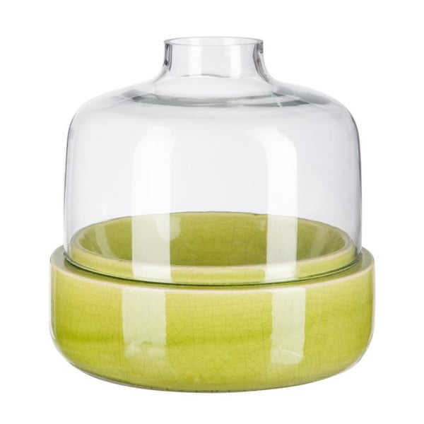 Svícen Ceramic Green, 23x23x22 cm