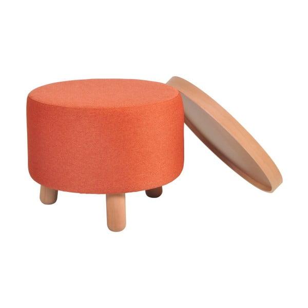 Oranžová stolička Garageeight Molde s odnímatelným vrškem, velikost L