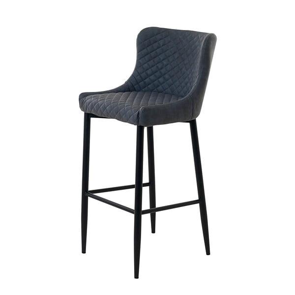 Šedá čalouněná barová židle Unique Furniture Ottowa