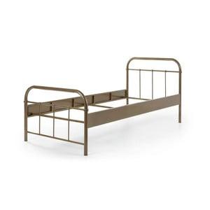 Hnědá kovová dětská postel Vipack Boston, 90 x 200 cm