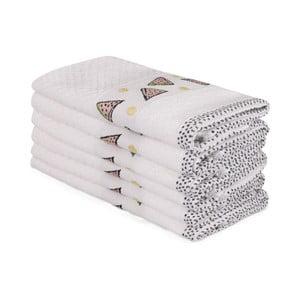 Sada 6 béžových bavlněných ručníků Beyaz Marissol, 30 x 50 cm