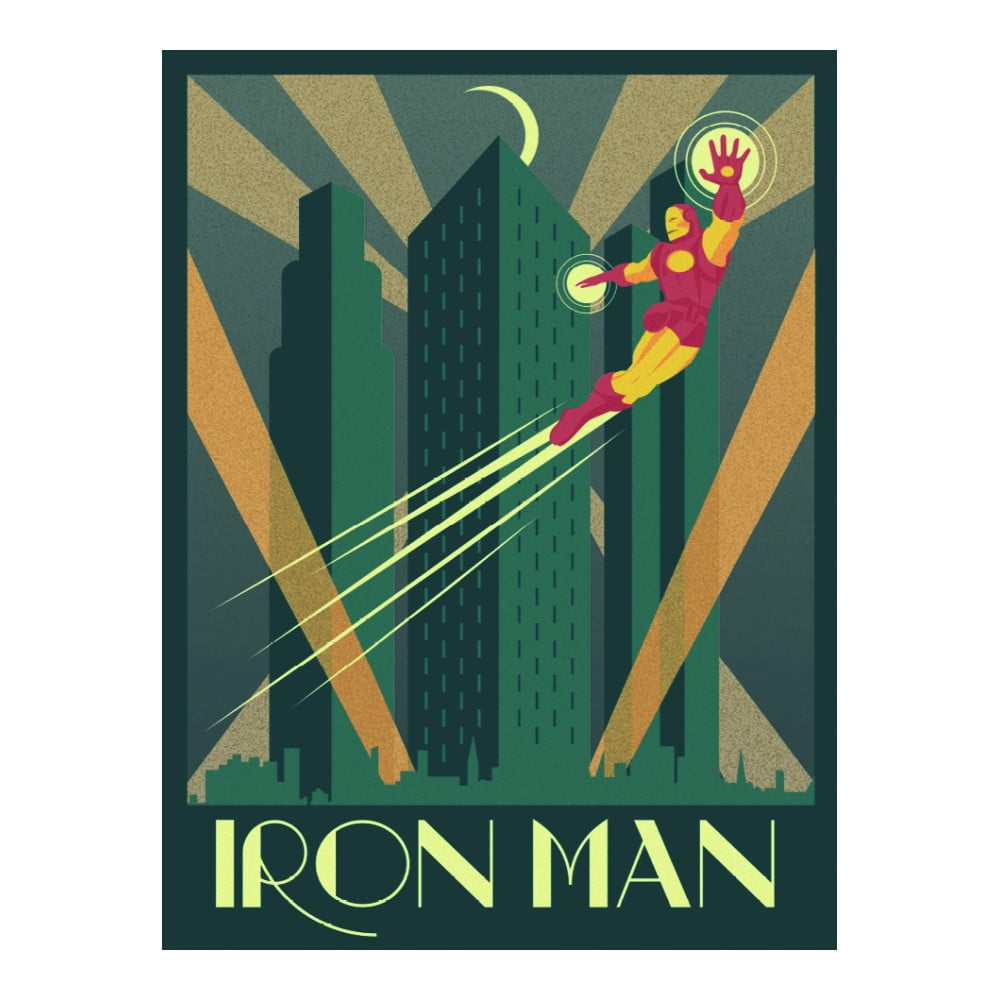 Obraz Pyramid International Marvel Deco Iron Man, 30 x 40 cm