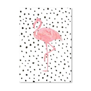 Poster Americanflat Flamingo on Polka, 30 x 42 cm