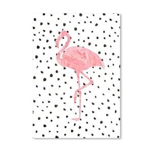 Plakát Americanflat Flamingo on Polka, 30x42cm