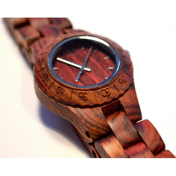 Dámské dřevěné hodinky Moon Brown