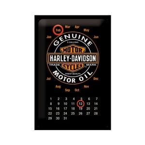 Plechový kalendář Harley Davidson Genuine, 20x30 cm