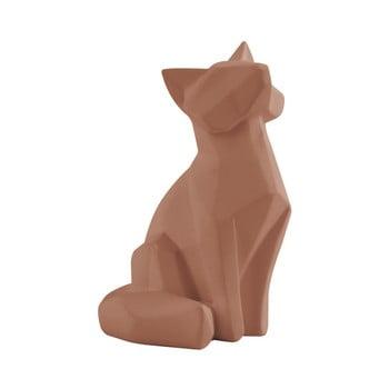 Statuetă PT LIVING Origami Fox, înălțime 15 cm, maro mat