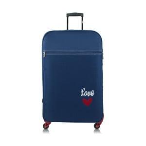 Modrý kufr na kolečkách INFINITIF Love, 30 l