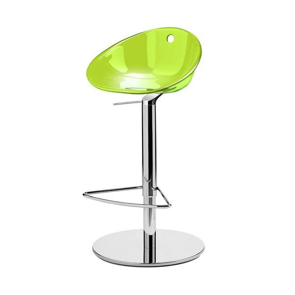Zelená barová židle Pedrali Gliss
