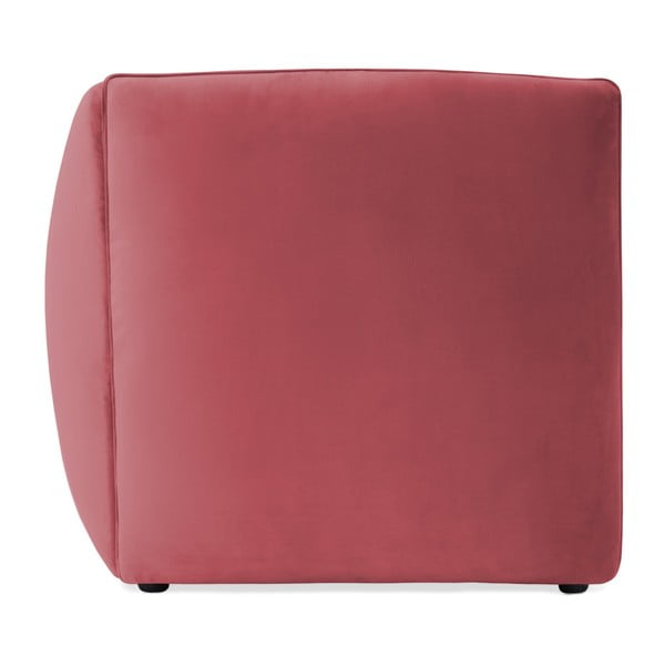 Červenorůžová třímístná modulová pohovka Vivonita Velvet Cube