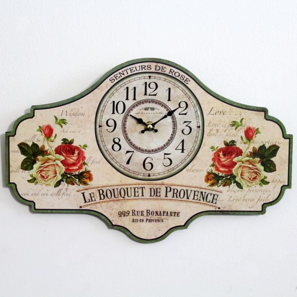 Dřevěné hodiny Le Bouquet