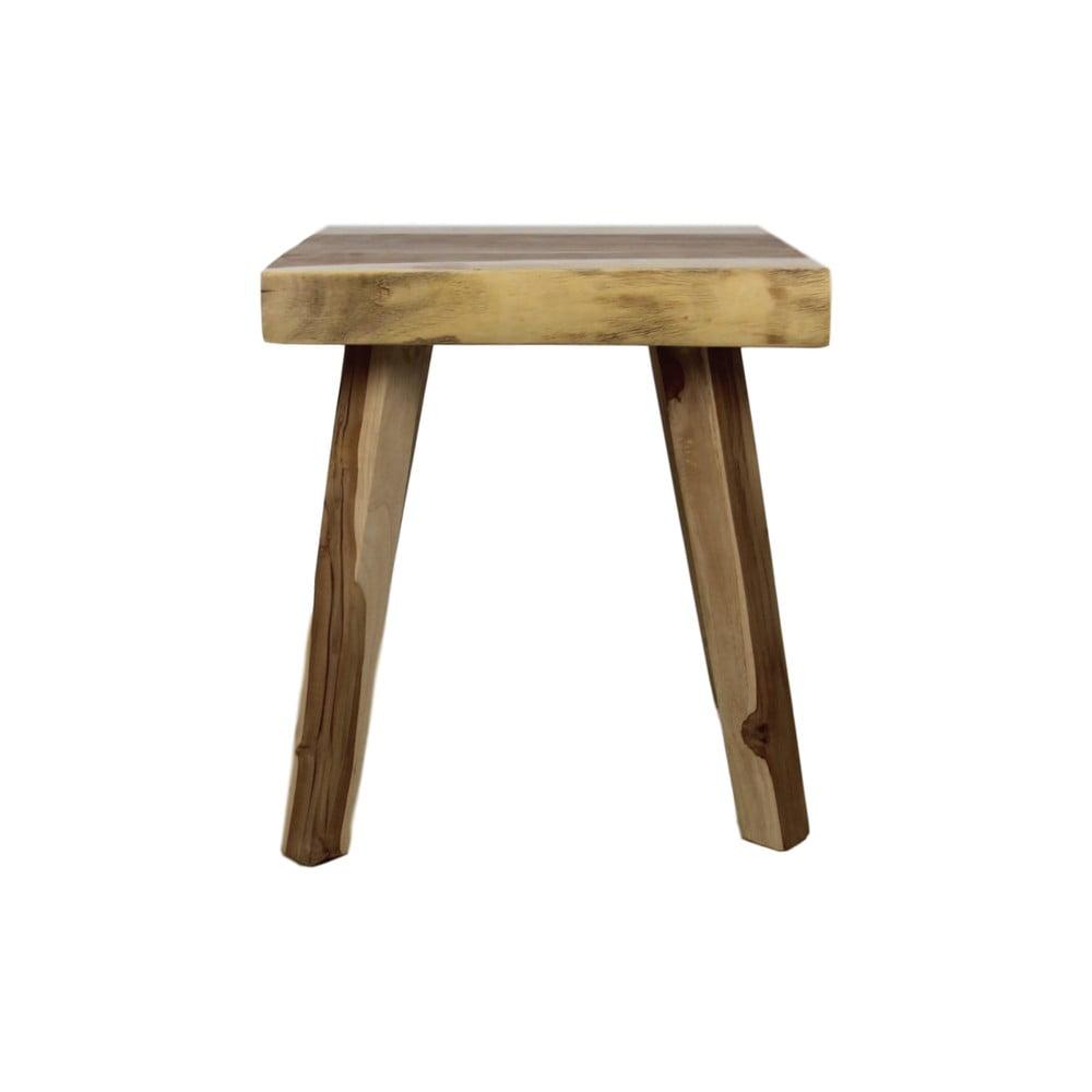 Příruční dřevěný stolek HSM collection Munggur, 40 x 40 cm