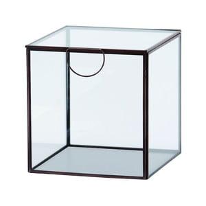 Skleněný box Agape Copper, 19 cm