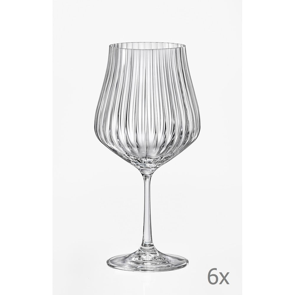 Sada 6 sklenic na víno Crystalex Tulipa Optic, 600 ml