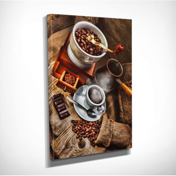 Coffee vászon fali kép, 30 x 40 cm