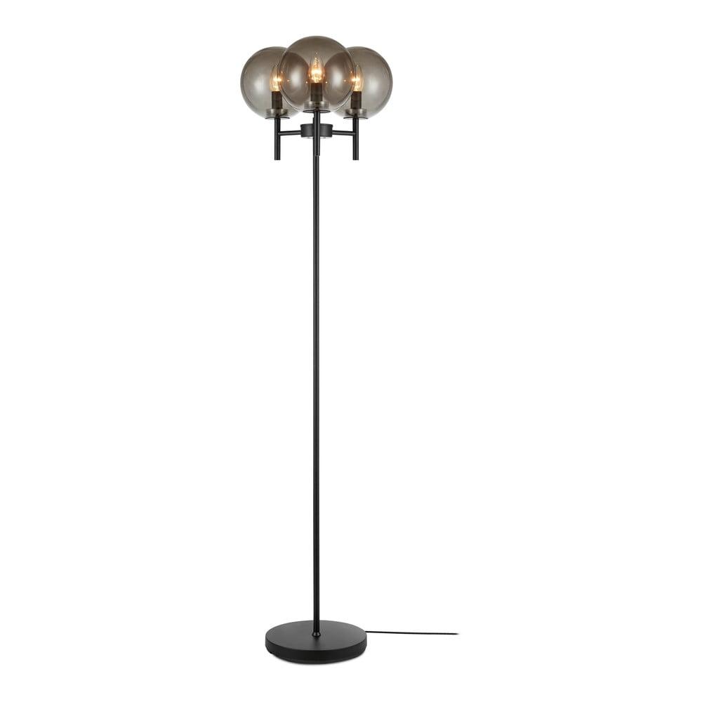 Volně stojící lampa v černé barvě Markslöjd Crown Floor 3L