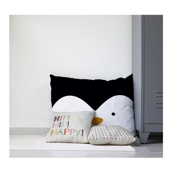 Dětský polštář na hraní Little Nice Things Penguin, 80 x 60 cm