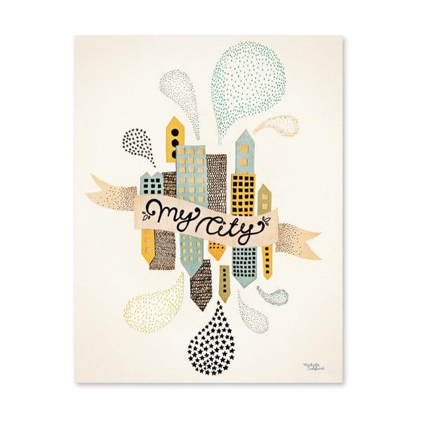 Plakát Michelle Carlslund My Two Cities, 50x70cm