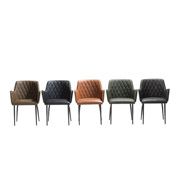 Zelená jídelní židle s područkami DAN-FORM Denmark Rombo