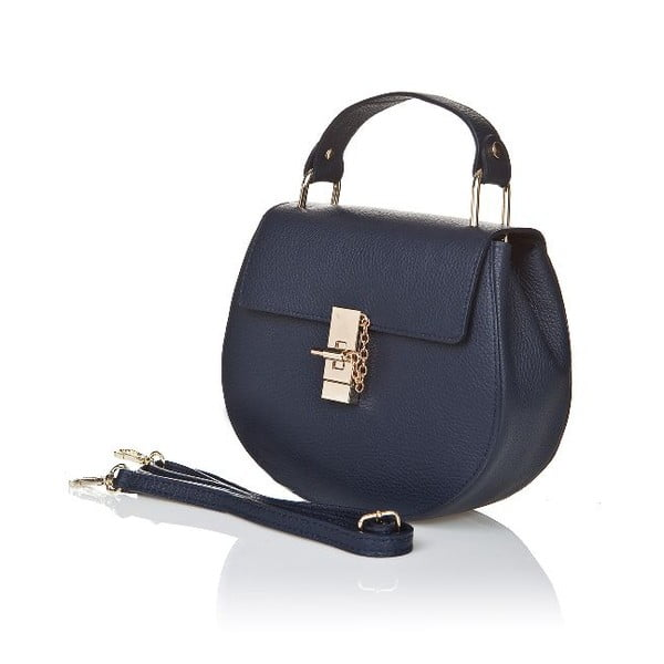 Kožená kabelka Locker, modrá