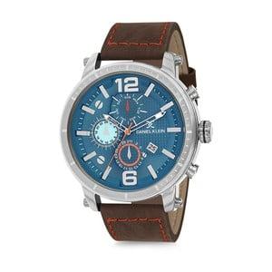 Pánské hodinky s koženým hnědým řemínkem Daniel Klein Yacht