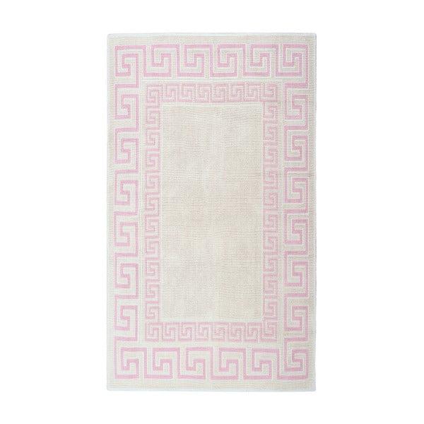 Krémový bavlněný koberec Floorist Bukle Versage, 60x90cm