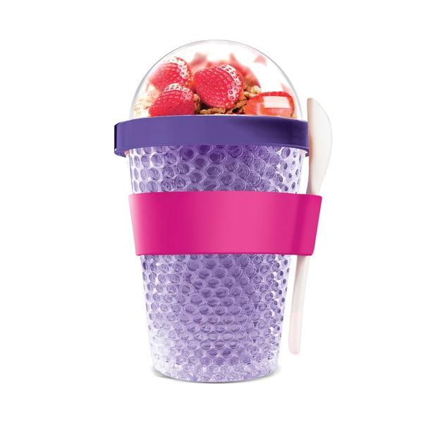 Termokelímek na jogurt Chill Yo 2 Go, fialový
