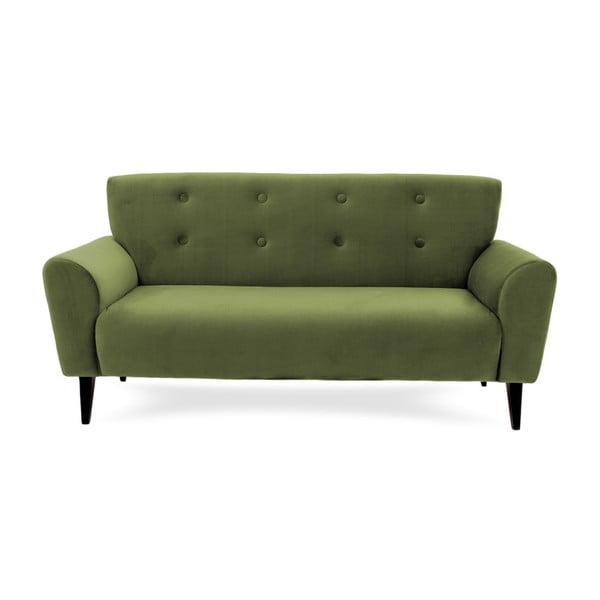 Canapea cu 3 locuri Vivonita Kiara, verde măsliniu