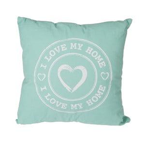 Zelený polštář Out of the Blue I Love My Home, 40x40cm