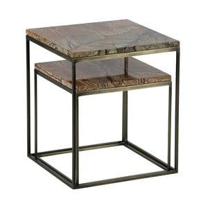 Sada 2 odkládacích stolků s mramorovými deskami BePureHome Mellow