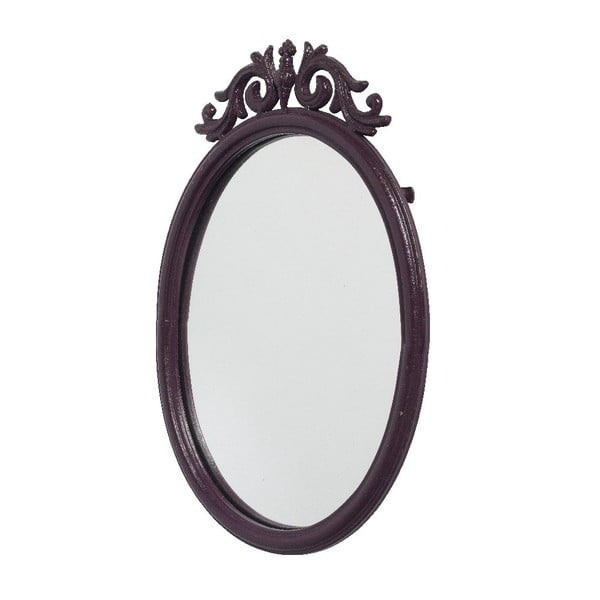 Zrcadlo Baroque Aubergine, 50x33 cm