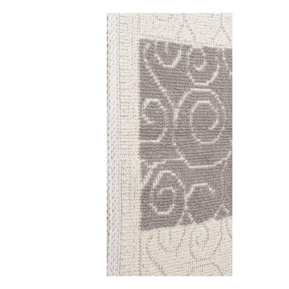 Béžovo-šedý koberec s příměsí bavlny Patchwork Coffee b2417a8997