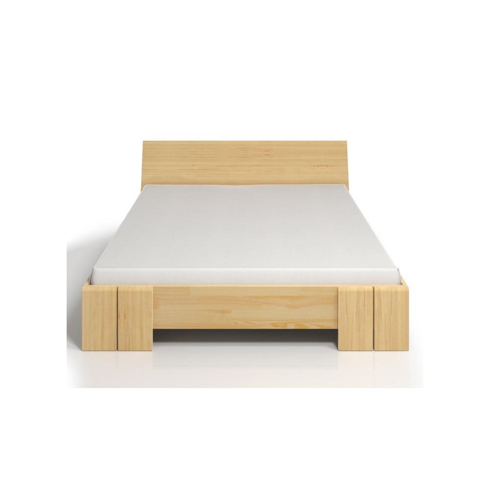 Dvoulůžková postel z borovicového dřeva s úložným prostorem SKANDICA Vestre Maxi, 140 x 200 cm