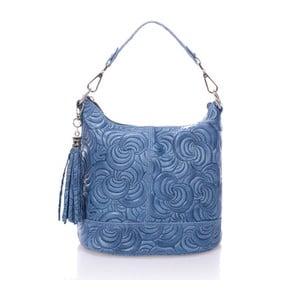 Modrá kožená kabelka Giulia Massari Straps