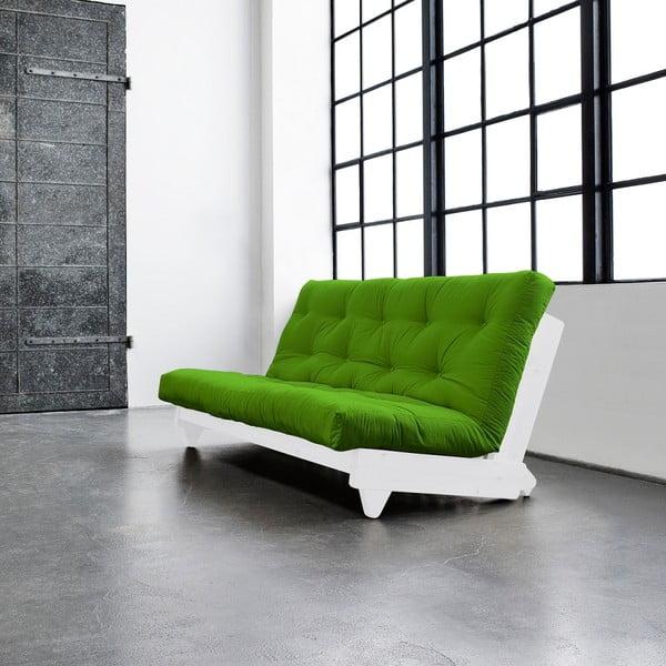 Canapea extensibilă Karup Fresh White/Lime